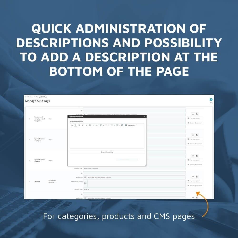 module - SEO (Indicizzazione naturale) - DMU SEO Toolbox: All-in-one SEO - 4