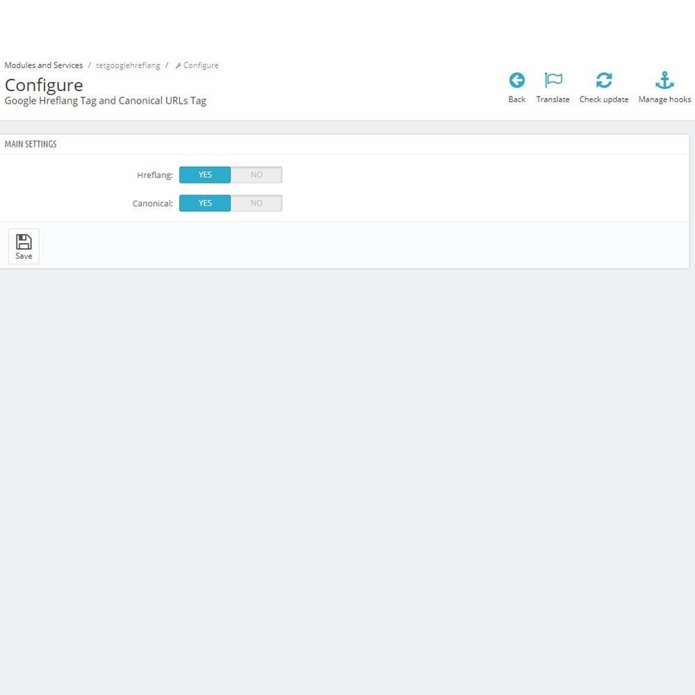 module - Управления адресами URL и перенаправлением - SEO Google Hreflang теги и тег Канонических URL - 3