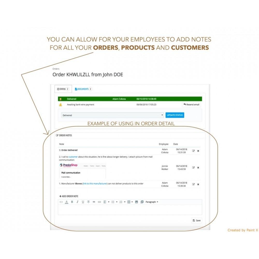 module - Pегистрации и оформления заказа - Расширенные заметки для заказов, продуктов и клиентов - 1