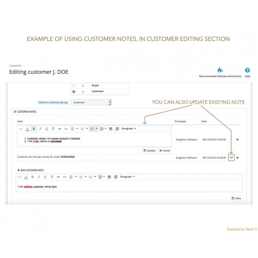 module - Pегистрации и оформления заказа - Расширенные заметки для заказов, продуктов и клиентов - 5