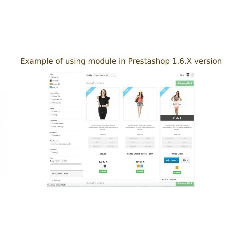 module - Zusatzinformationen & Produkt-Tabs - Anzeige der Produkteigenschaft in Produktliste - 6