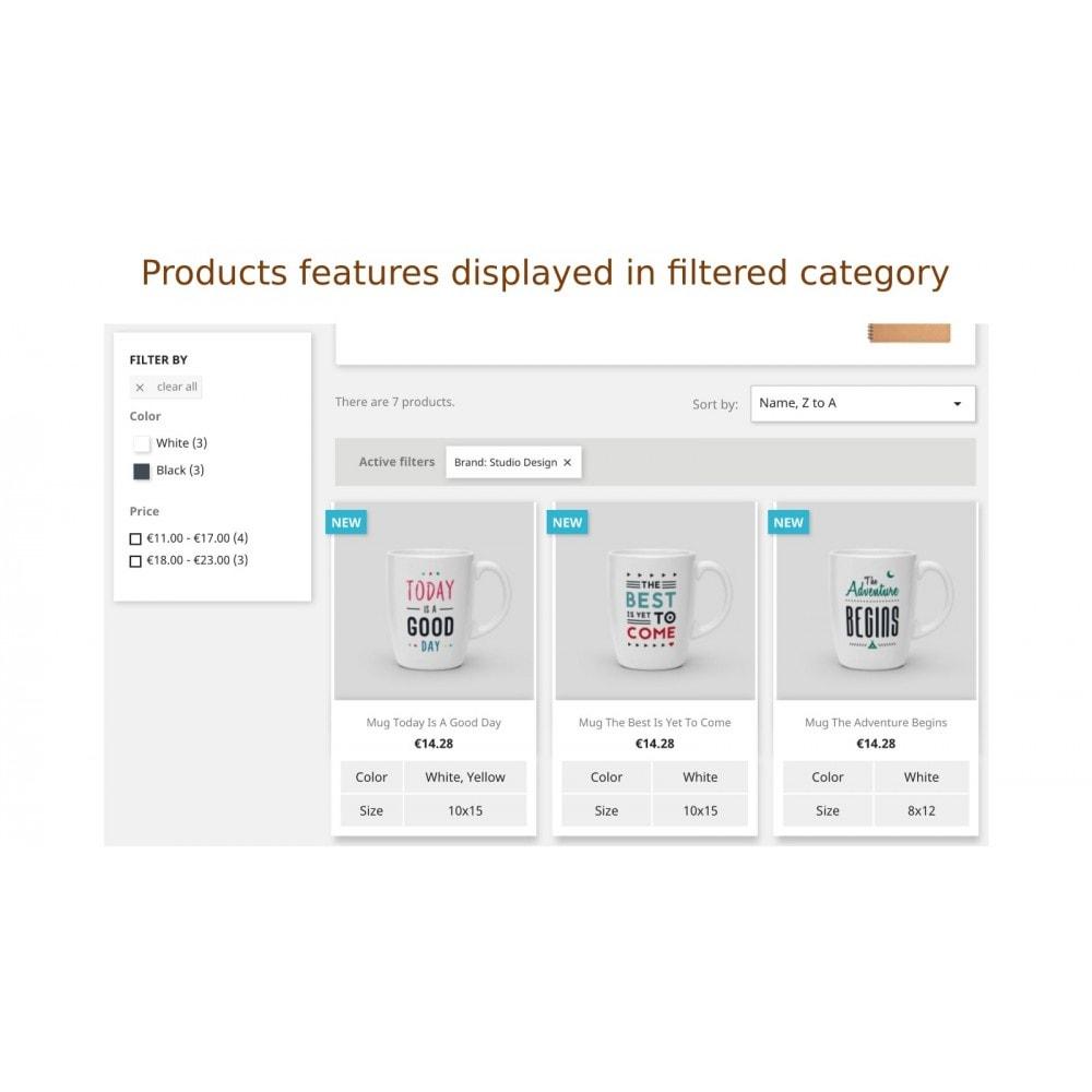 module - Dodatkowe informacje & Zakładka produktu - Pokazanie cech albo opisów produktów w spisie produktów - 5