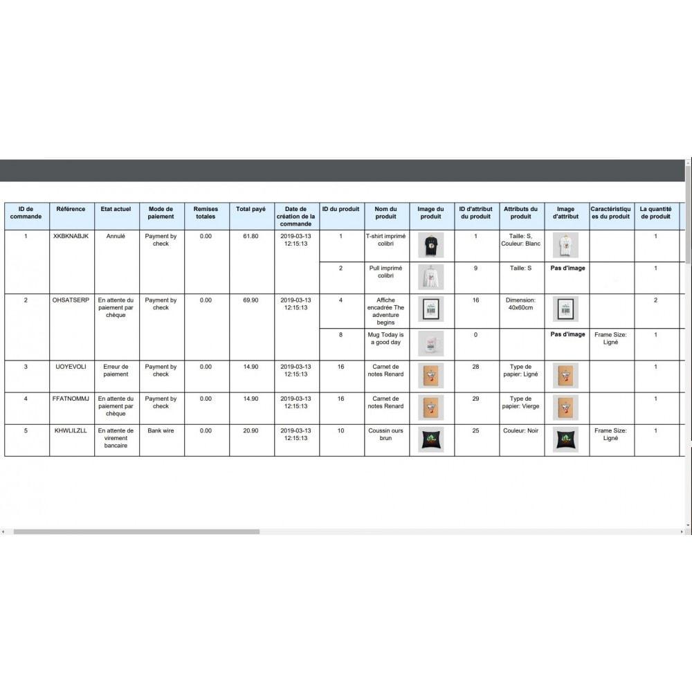 module - Import & Export de données - Exportation de Commandes Pro (Excel, CSV, XML, PDF) - 11