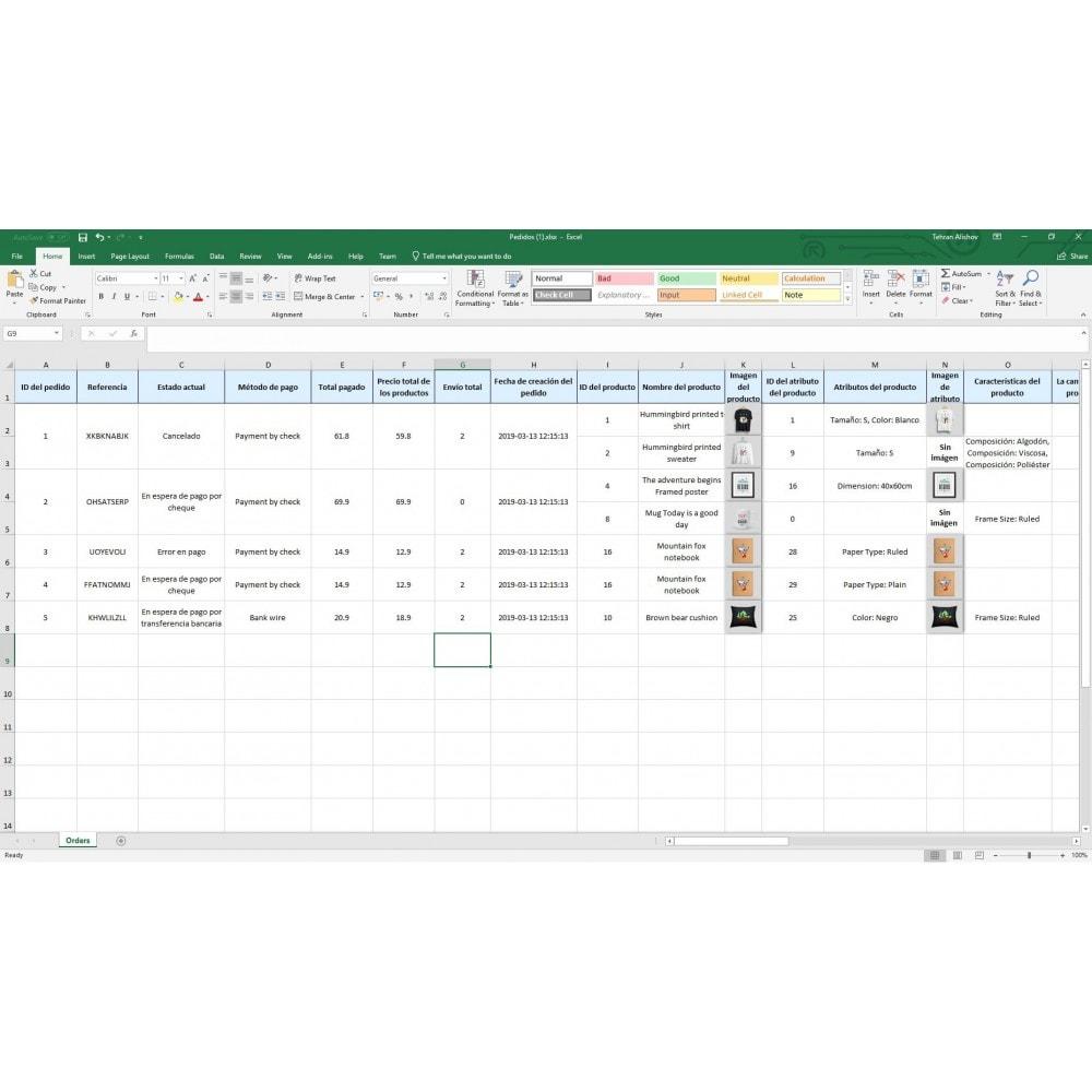 module - Importación y Exportación de datos - Exportación de Pedidos Pro (Excel, CSV, XML, PDF) - 9