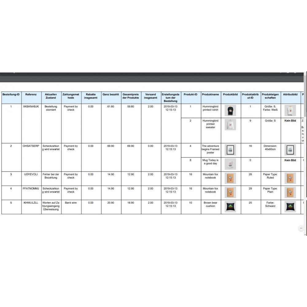 module - Daten Im-&Export - Bestellungen Export Pro (Excel, CSV, XML, PDF) - 11