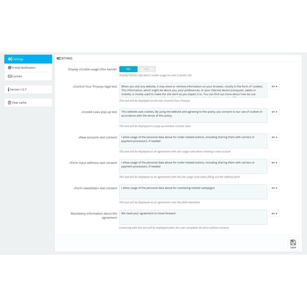 module - Marco Legal (Ley Europea) - RGPD Compliance - 7