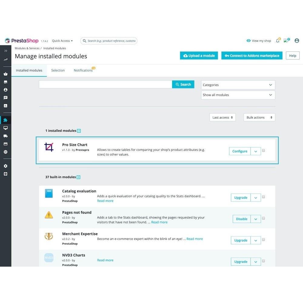 module - Combinazioni & Personalizzazione Prodotti - Products Size chart guide - 3