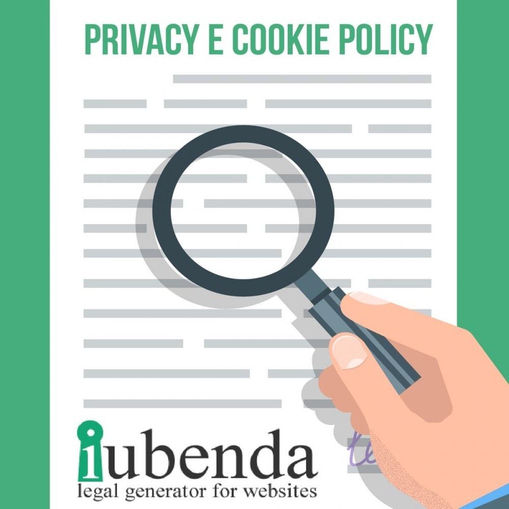module - Jurídico - Art Iubenda Privacy and Cookie Policy GDPR - 1