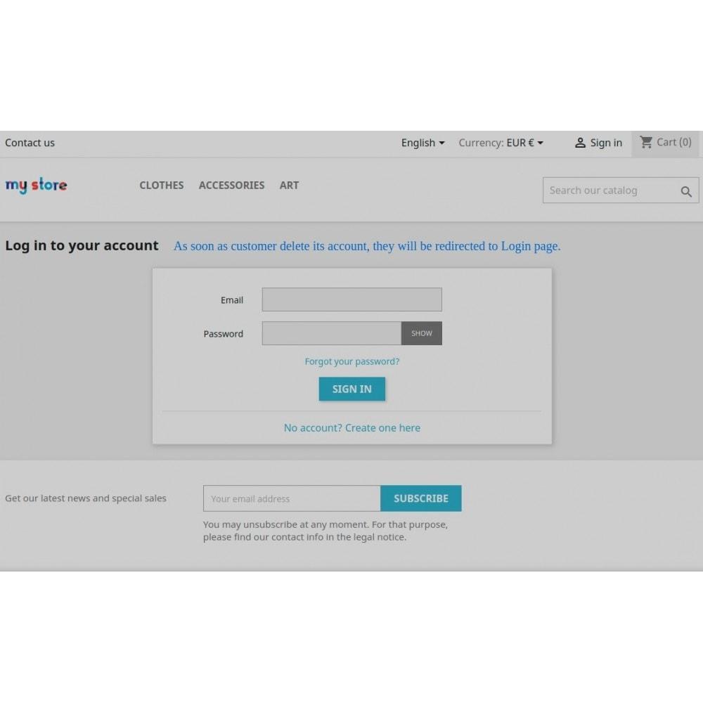 module - Kundenverwaltung - Delete Customers Account - GDPR Compliance - 6
