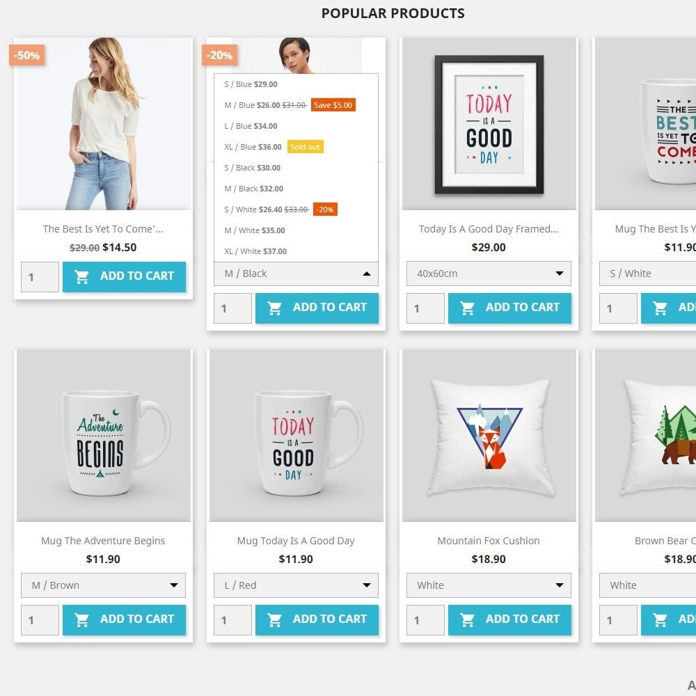 module - Bundels & Personalisierung - Show Attribute combinations in products list - 2
