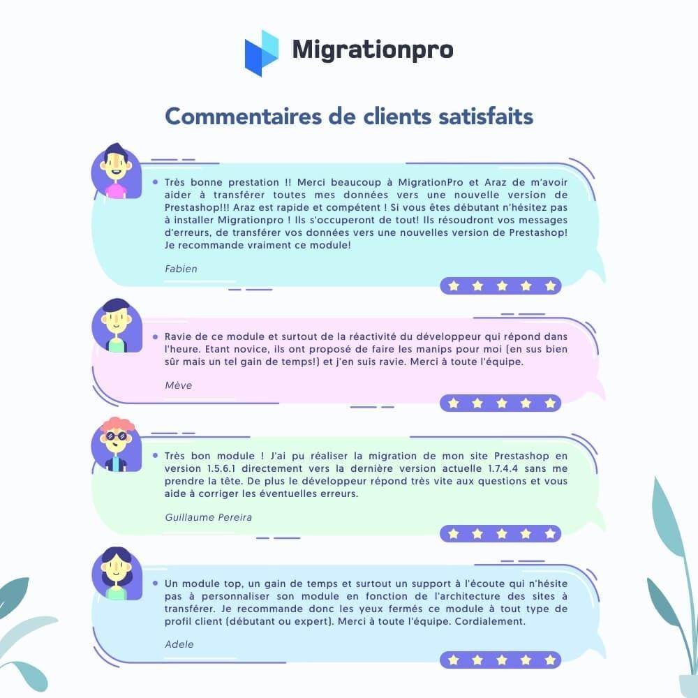 module - Migration de Données & Sauvegarde - Outil de migration PrestaShop – Passez à PrestaShop 1.7 - 9