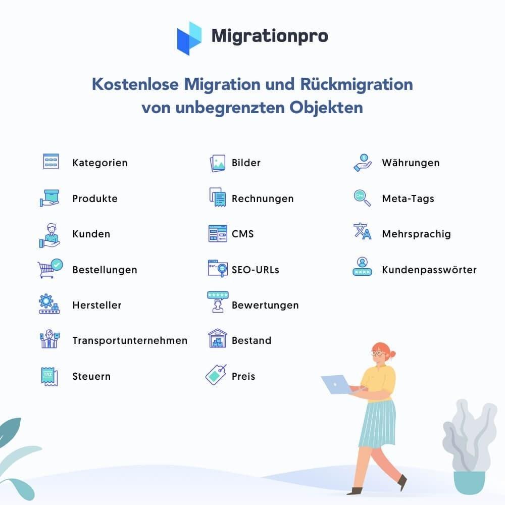 module - Datenmigration & Backup - MigrationPro: Prestashop Upgrade und Migrationstool - 2
