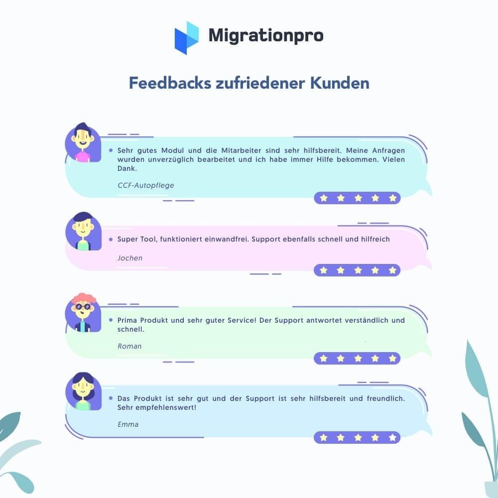 module - Datenmigration & Backup - MigrationPro: Prestashop Upgrade und Migrationstool - 9