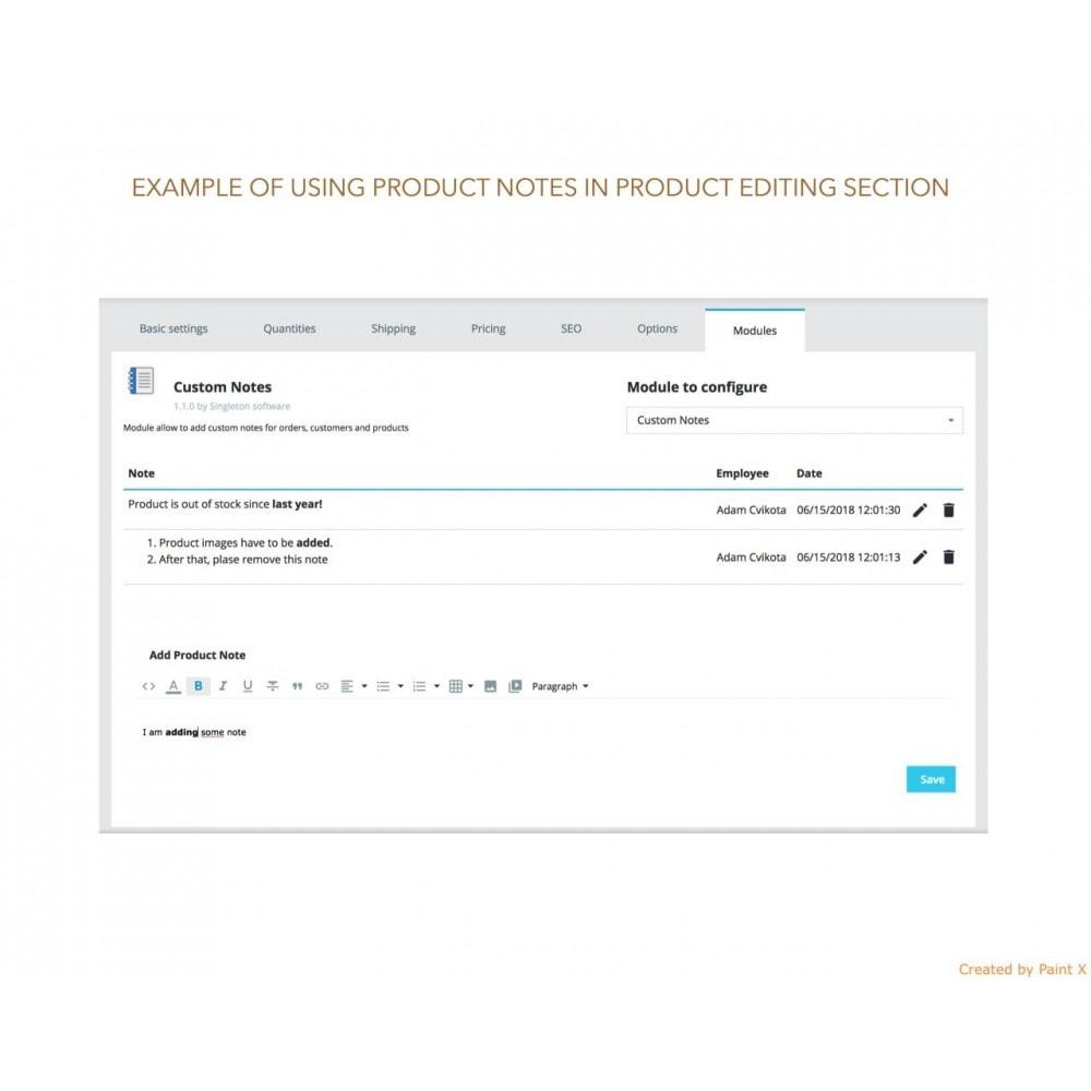 module - Inscripción y Proceso del pedido - Las notas para pedidos, productos y clientes - 6