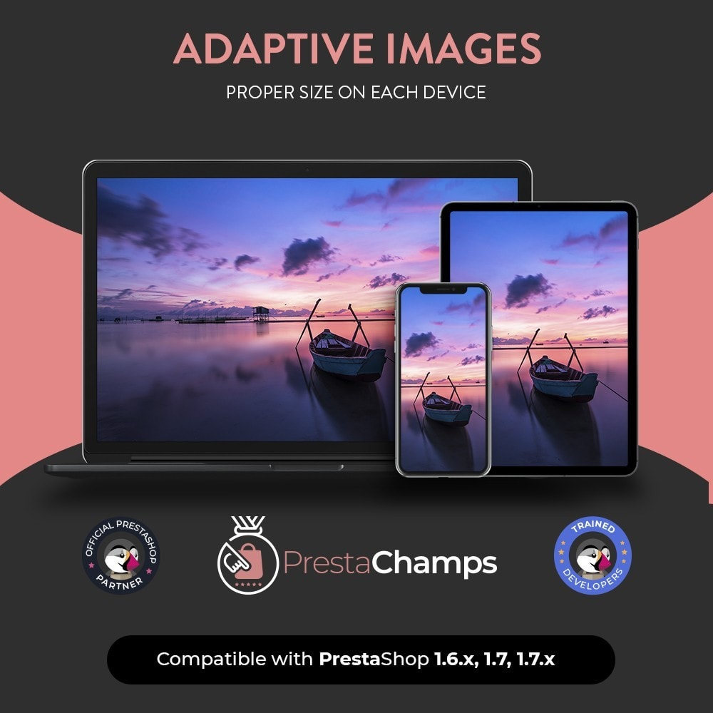 module - Website performantie - Adaptive images - Proper size on each device - 1