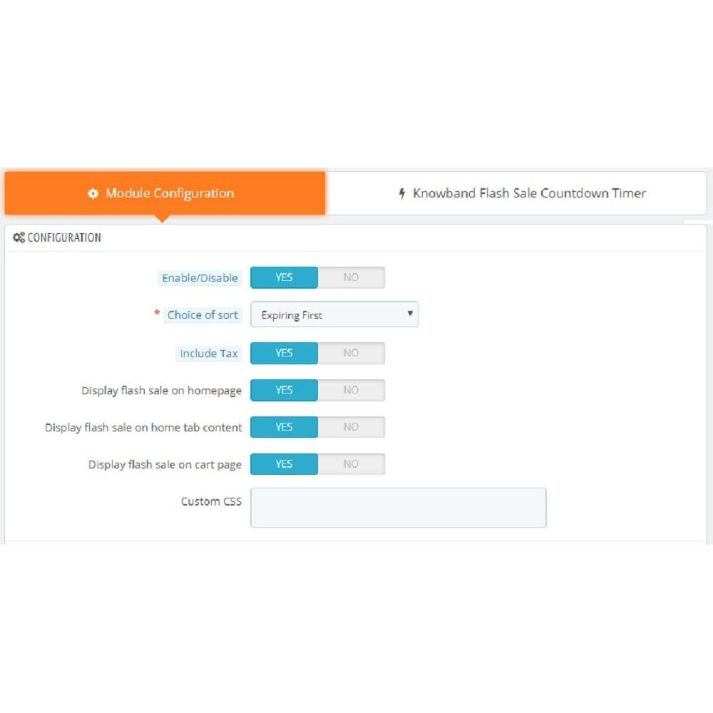 module - Ventes Flash & Ventes Privées - Knowband - Compte à rebours Flash Sale - 5