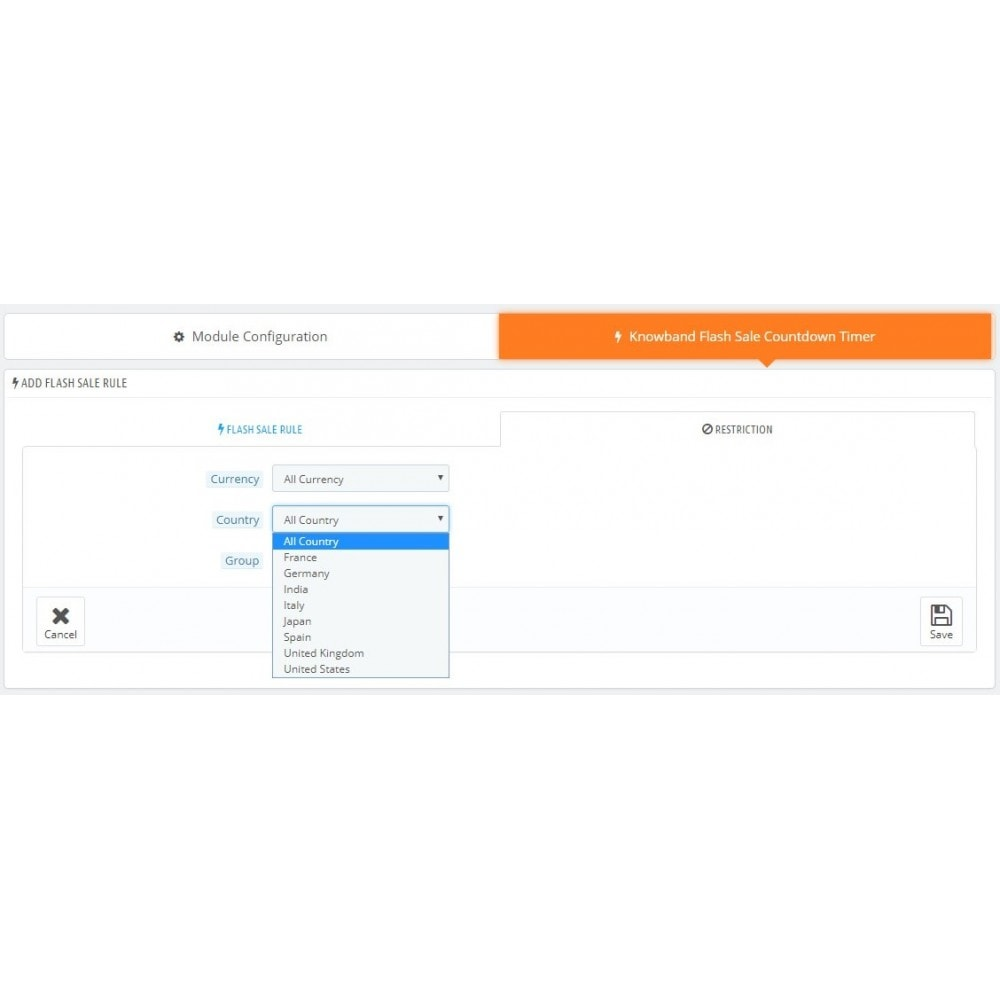 module - Ventas Privadas y Ventas Flash - Knowband - Contador de cuenta regresiva de venta flash - 7