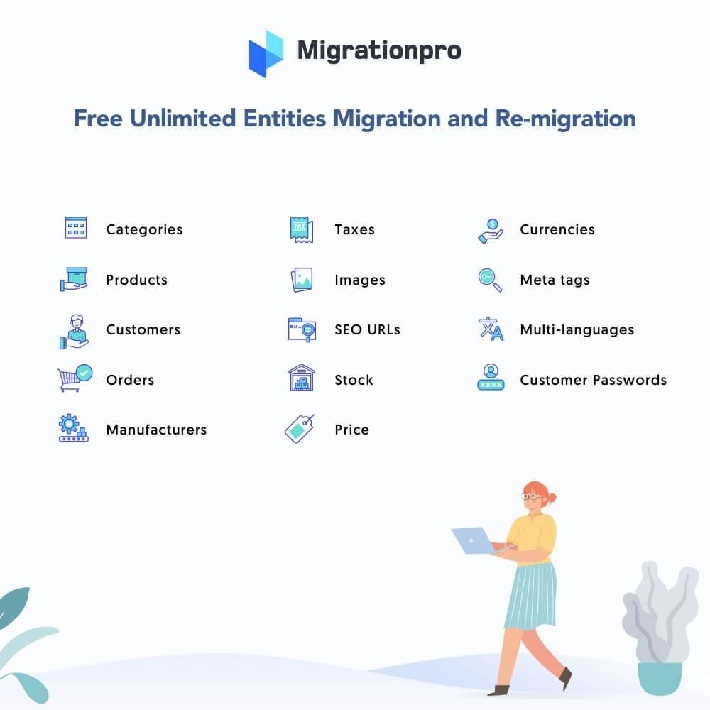 module - Migración y Copias de seguridad - MigrationPro: osCommerce to PrestaShop Migration Tool - 2