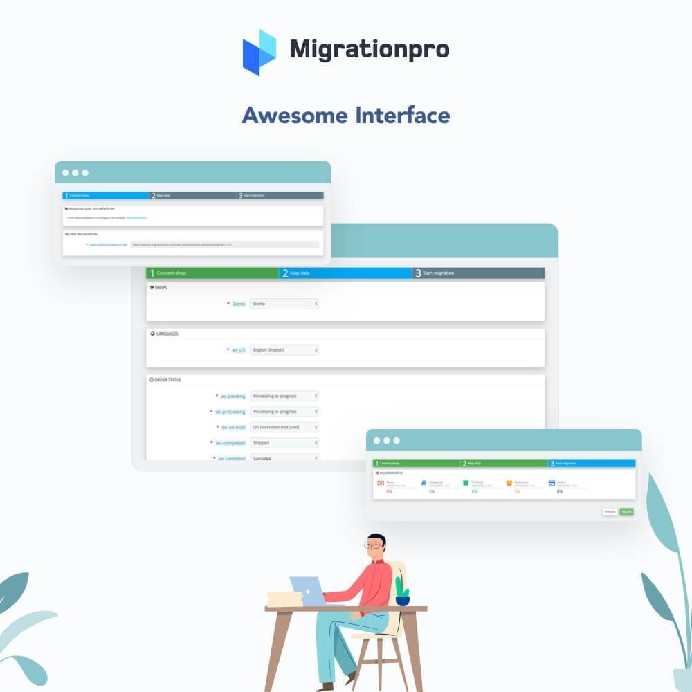 module - Миграции и сохранения данных - MigrationPro: WooCommerce to PrestaShop Migration Tool - 6