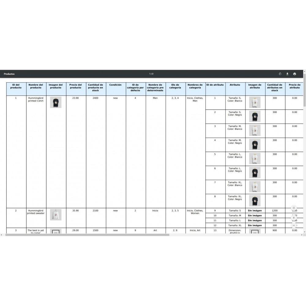 module - Importación y Exportación de datos - Exportación de Productos Pro (Excel, CSV, XML, PDF) - 10
