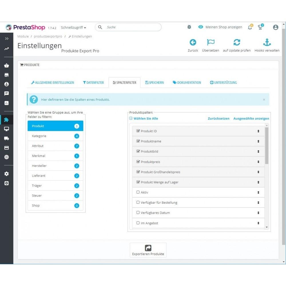 module - Daten Im-&Export - Produkte Export Pro (Excel, CSV, XML, PDF) - 3