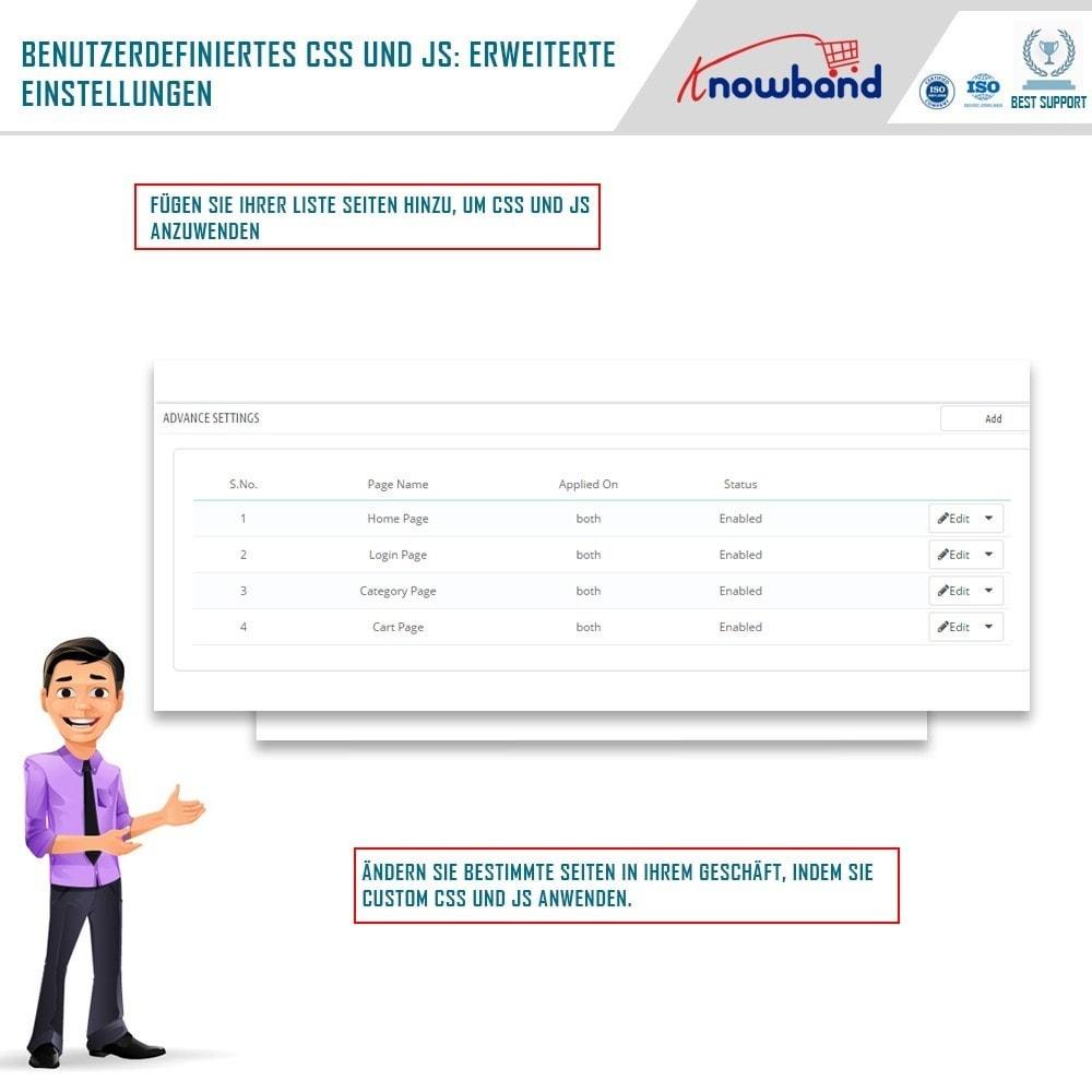 module - Individuelle Seitengestaltung - Knowband- Anpassbare CSS und JS Codes - 3