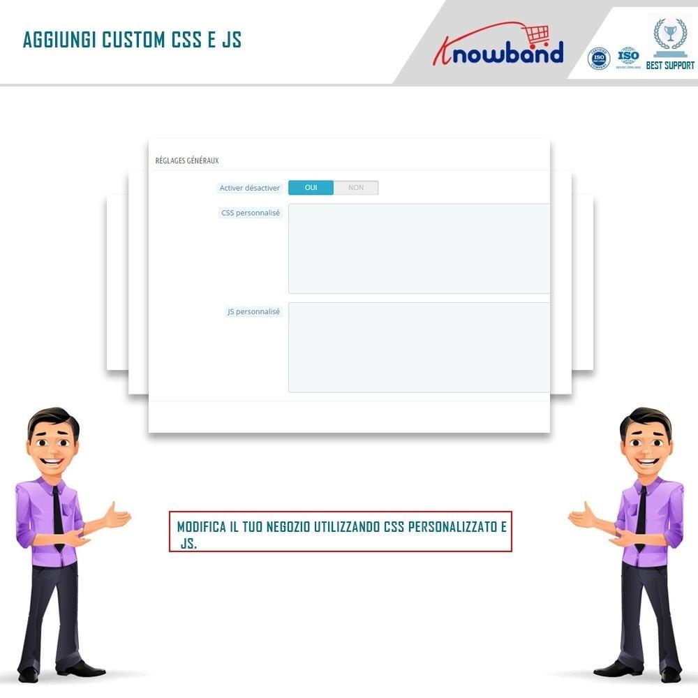 module - Personalizzazione pagine - Knowband - CSS e JS personalizzati - 3
