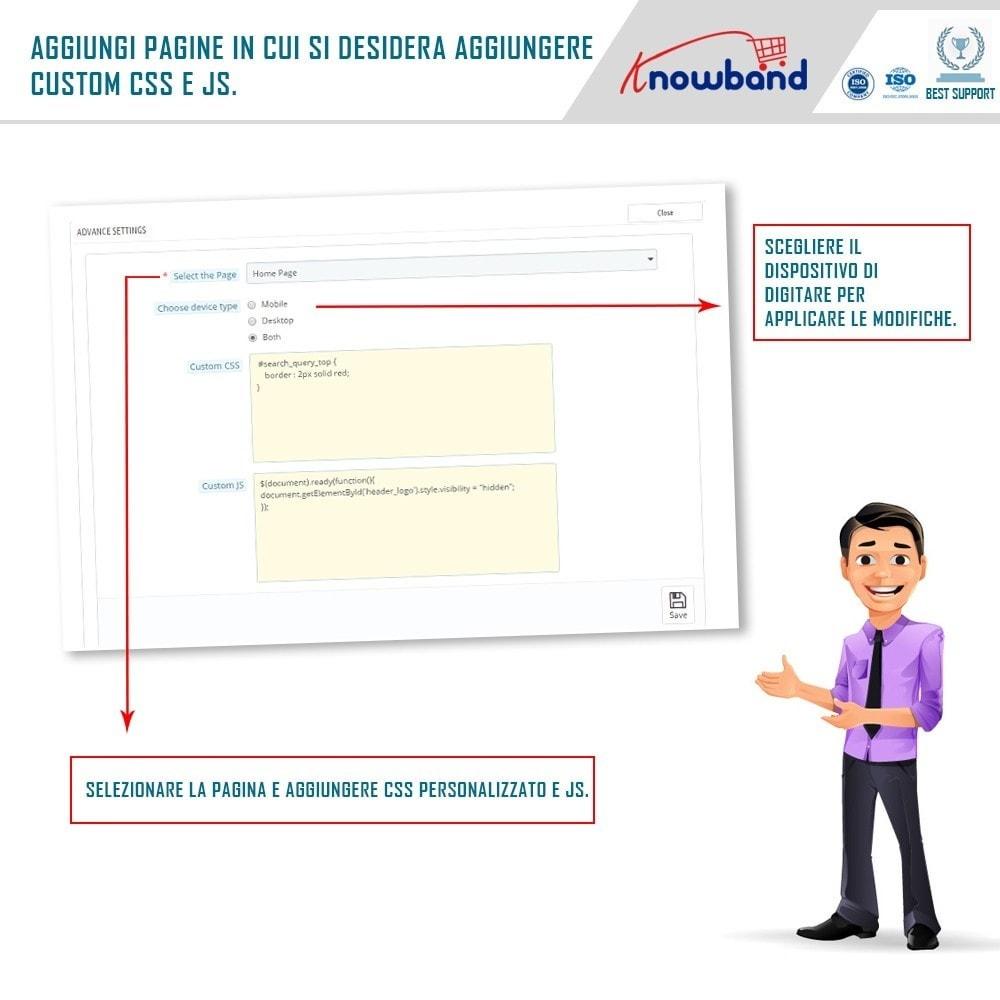 module - Personalizzazione pagine - Knowband - CSS e JS personalizzati - 4
