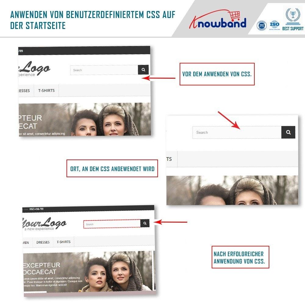 module - Personalização de página - Knowband – CSS e JS Personalizado - 5