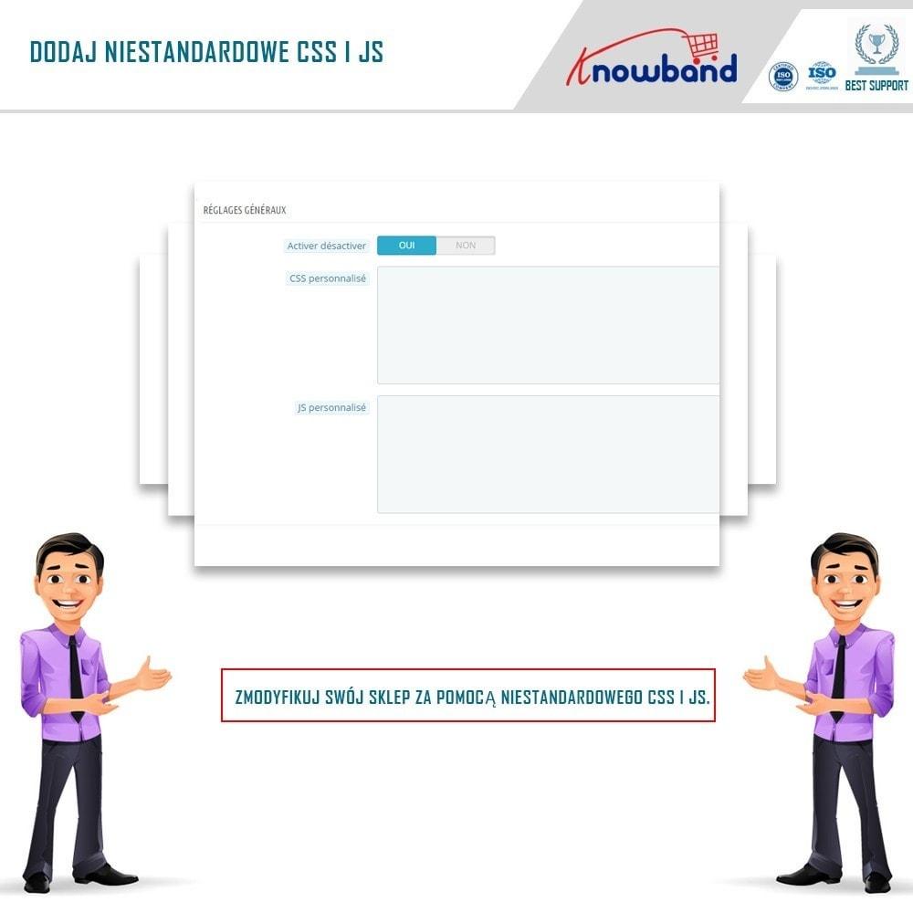 module - Personalizacja strony - Knowband - Custom CSS and JS - 3