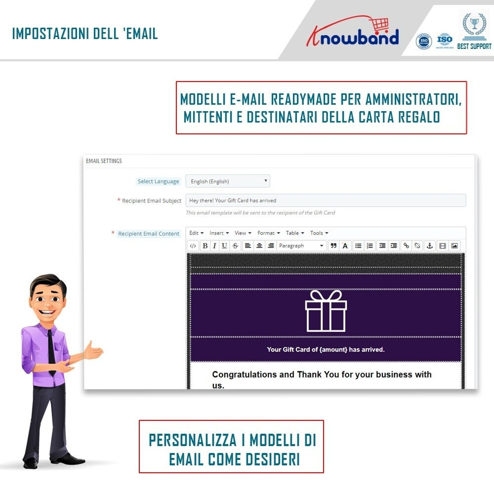 module - Whishlist & Gift Card - Knowband - Gift card manager - 3