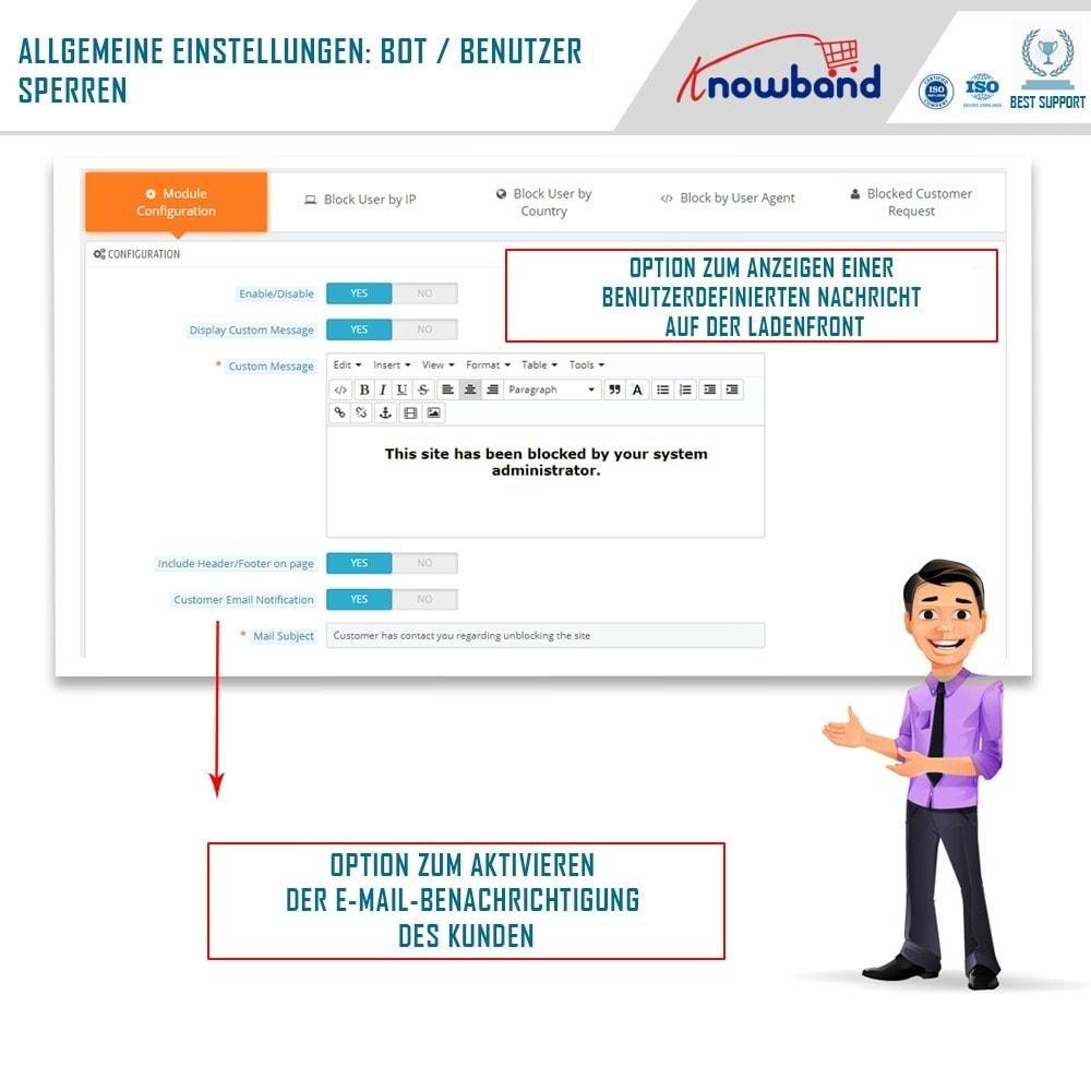 module - Sicherheit & Berechtigungen - Block Bot/User by IP, country or User Agent - 2