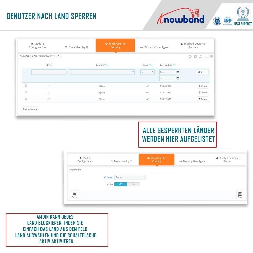 module - Sicherheit & Berechtigungen - Block Bot/User by IP, country or User Agent - 3