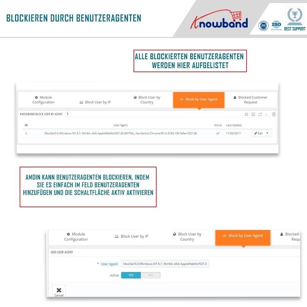 module - Sicherheit & Berechtigungen - Block Bot/User by IP, country or User Agent - 4