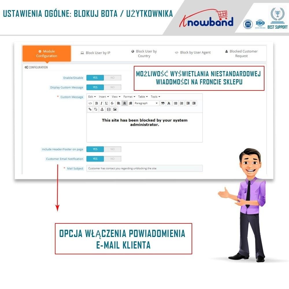module - Bezpieczeństwa & Dostępu - Block Bot/User by IP, country or User Agent - 1