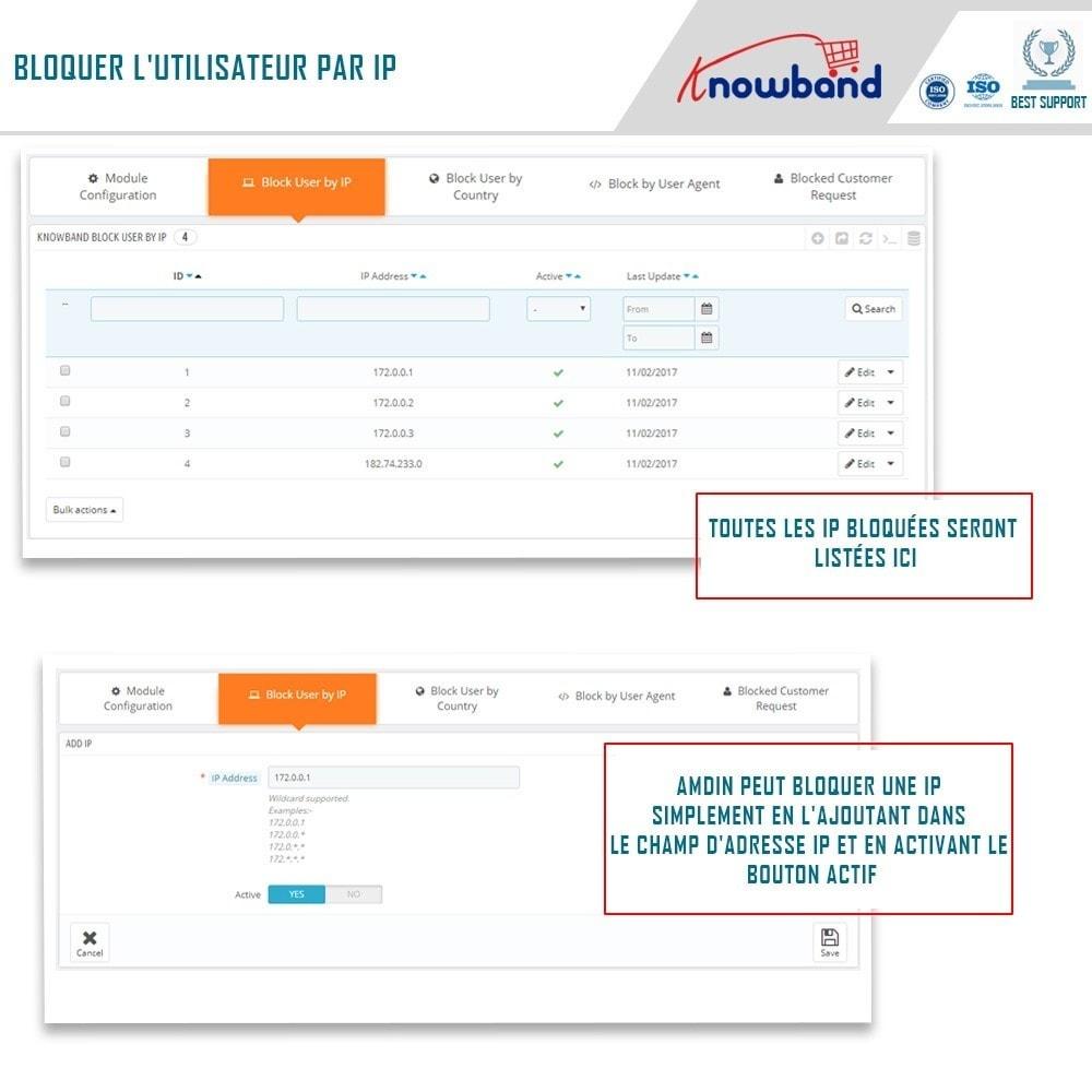 module - Sécurité & Accès - Blocage Bot/Utilisateur par IP, pays ou Agent - 2