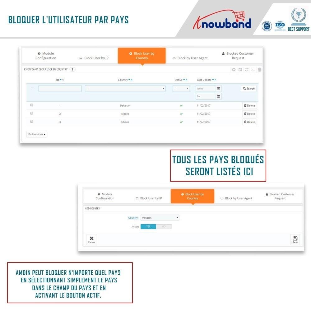module - Sécurité & Accès - Blocage Bot/Utilisateur par IP, pays ou Agent - 3