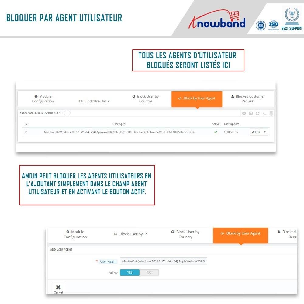 module - Sécurité & Accès - Blocage Bot/Utilisateur par IP, pays ou Agent - 4