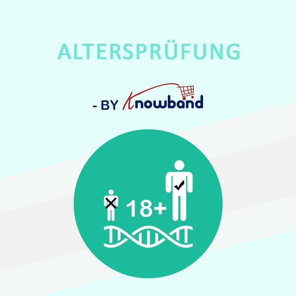 module - Sicherheit & Berechtigungen - Age Verification Popup | 18+ Verification - 1