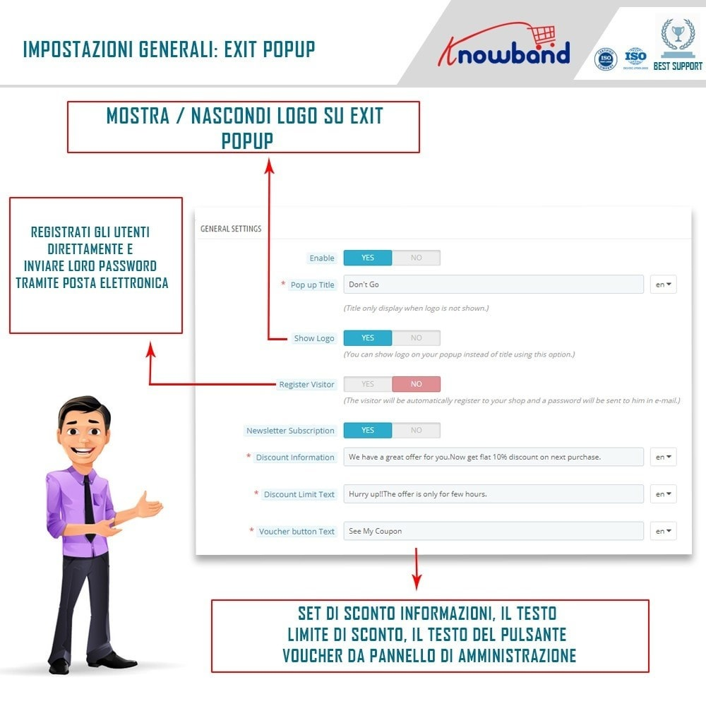 module - Remarketing & Carrelli abbandonati - Knowband - Exit Popup - 3