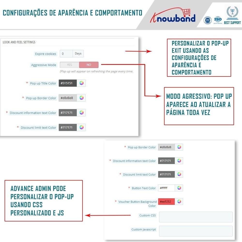 module - Remarketing & Compras abandonados - Knowband - Popup de Saída - 5