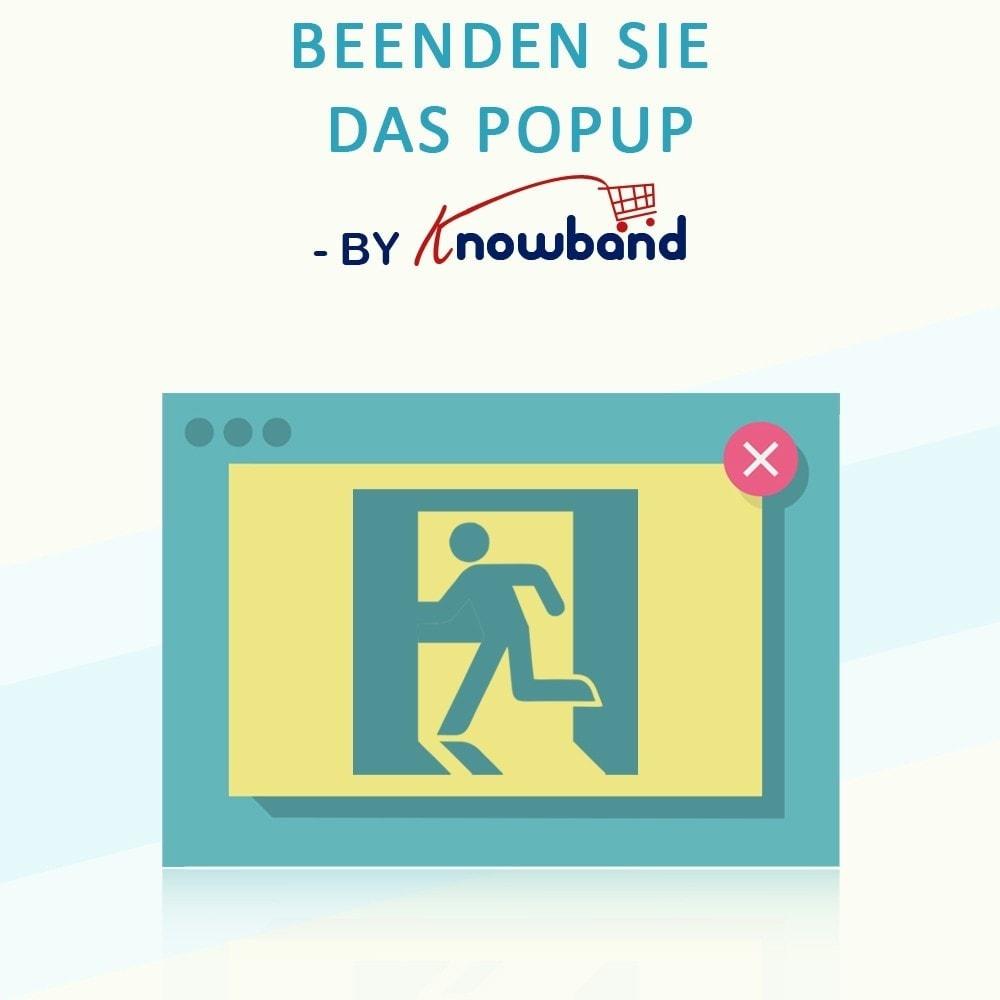 module - Remarketing & Warenkorbabbrüche - Knowband - Exit Popup (Email Subscription) pop up - 1