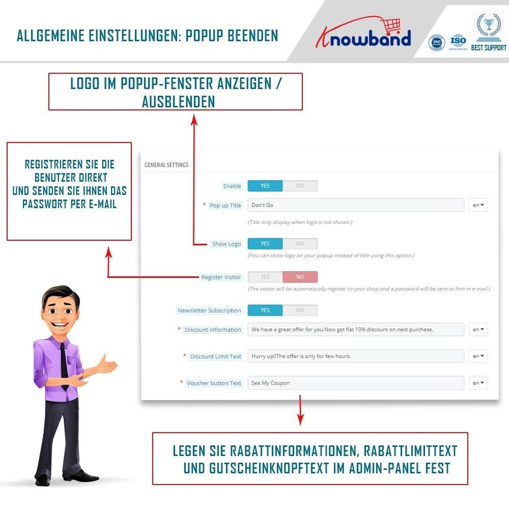 module - Remarketing & Warenkorbabbrüche - Knowband - Exit Popup (Email Subscription) pop up - 3