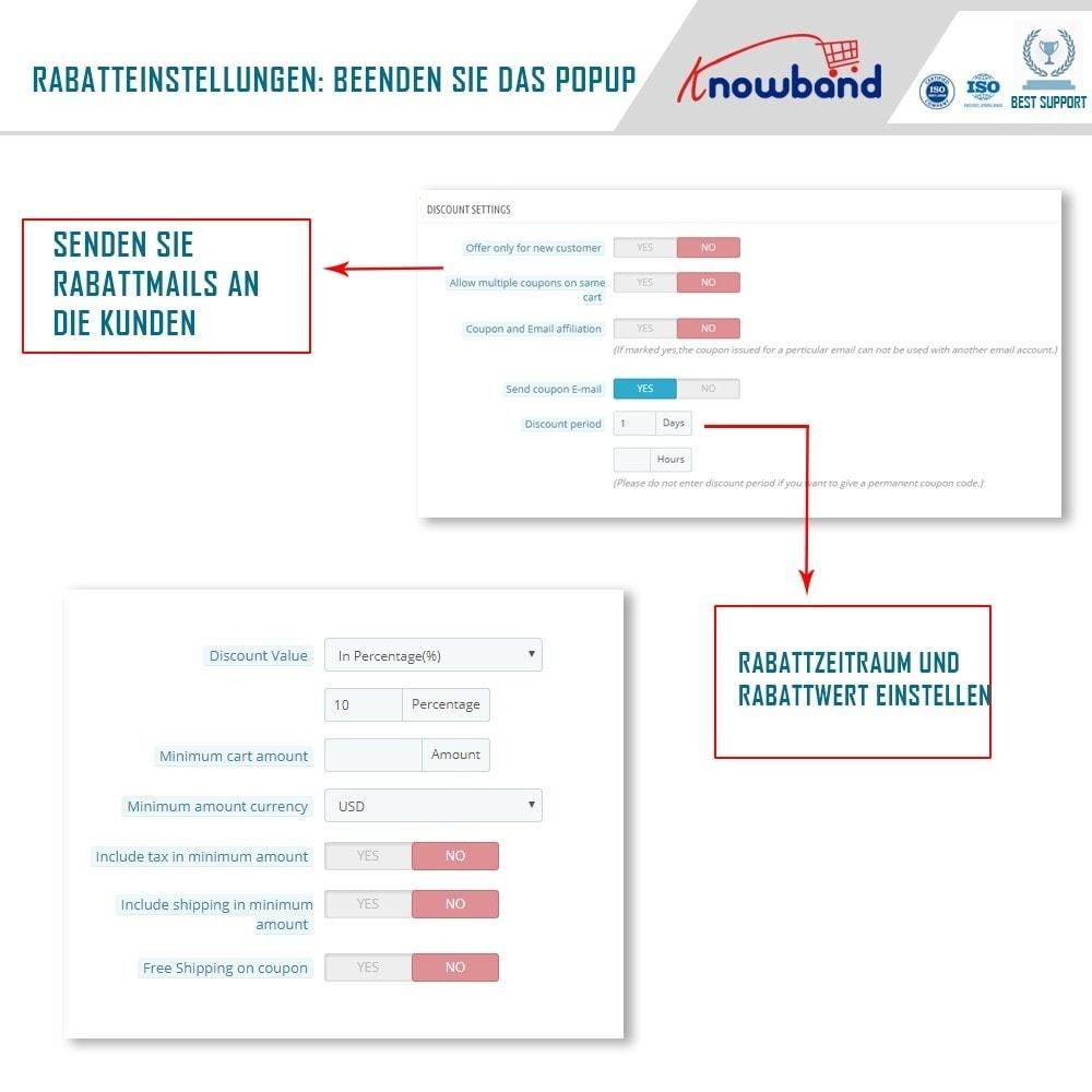 module - Remarketing & Warenkorbabbrüche - Knowband - Exit Popup (Email Subscription) pop up - 5