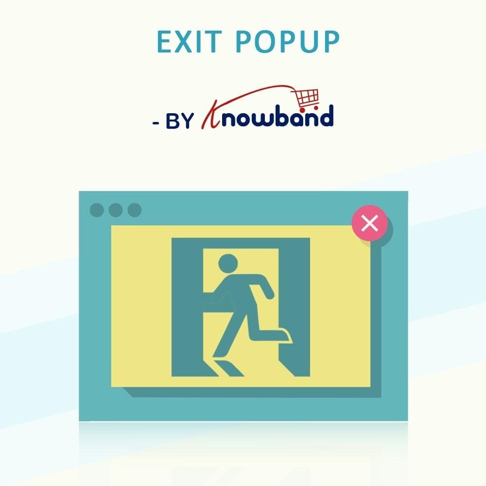 module - Перенаправление и Брошенные корзины - Knowband - Exit Popup (Email Subscription) pop up - 1