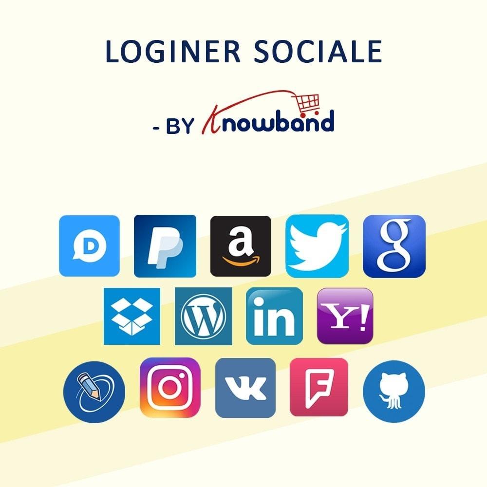 module - Login/Connessione - Knowband - Social Login 14 in 1,Statistiche & MailChimp - 1