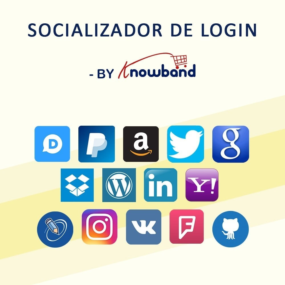 module - Módulos de Botões de Login & Connect - Knowband-Login Social 14 em 1, Estatísticas e MailChimp - 1