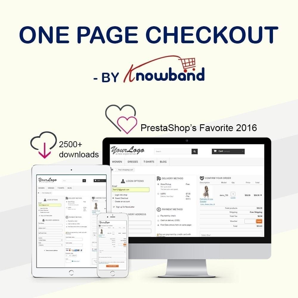 module - Processo de pedido - Checkout de Uma Página,Login Social &Mailchimp - 1