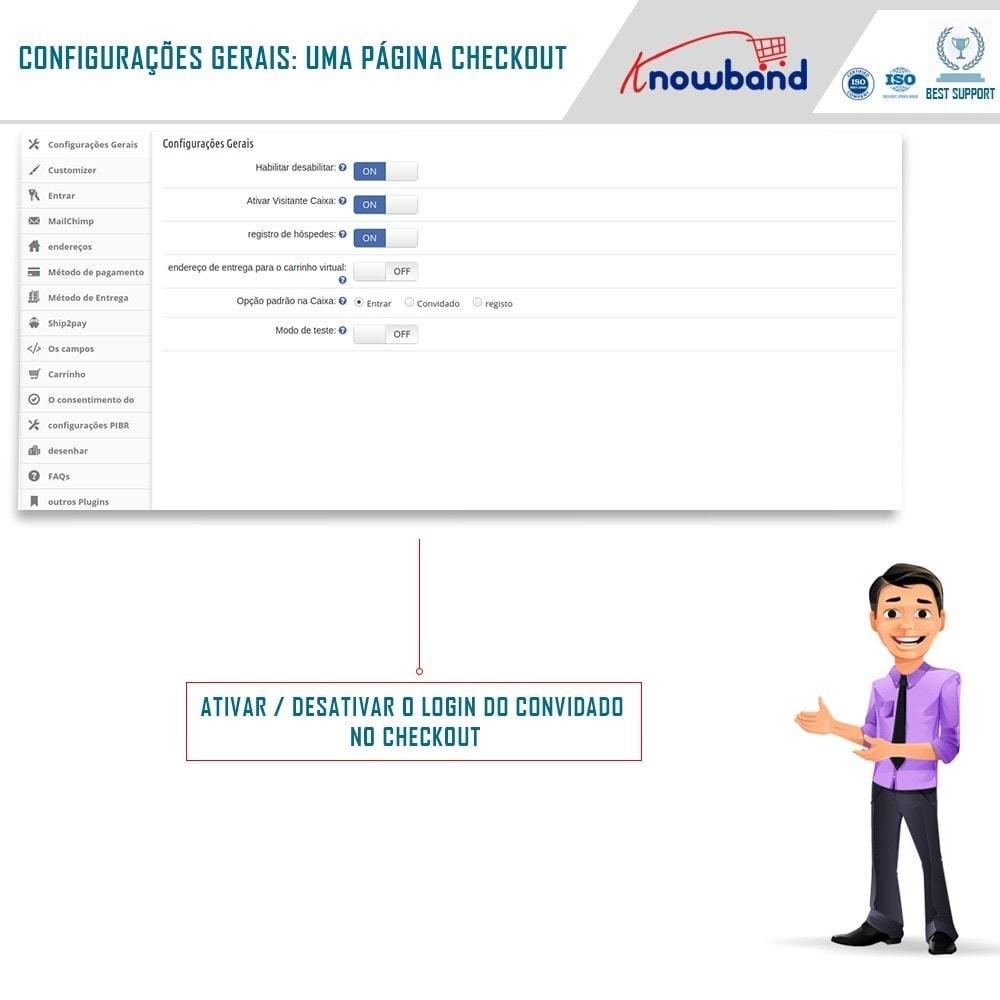 module - Processo de pedido - Checkout de Uma Página,Login Social &Mailchimp - 3