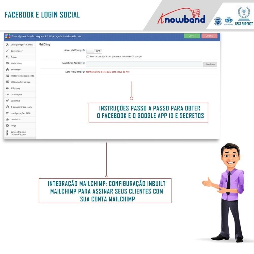 module - Processo de pedido - Checkout de Uma Página,Login Social &Mailchimp - 6